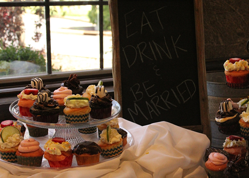Wedding cupcake buffet